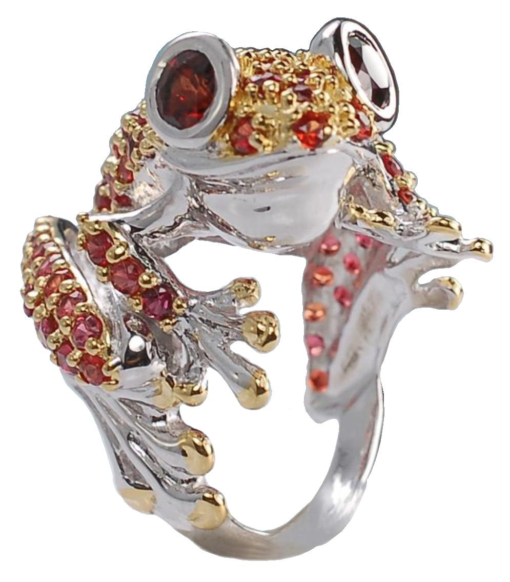 Scarlet Admirer frog ring