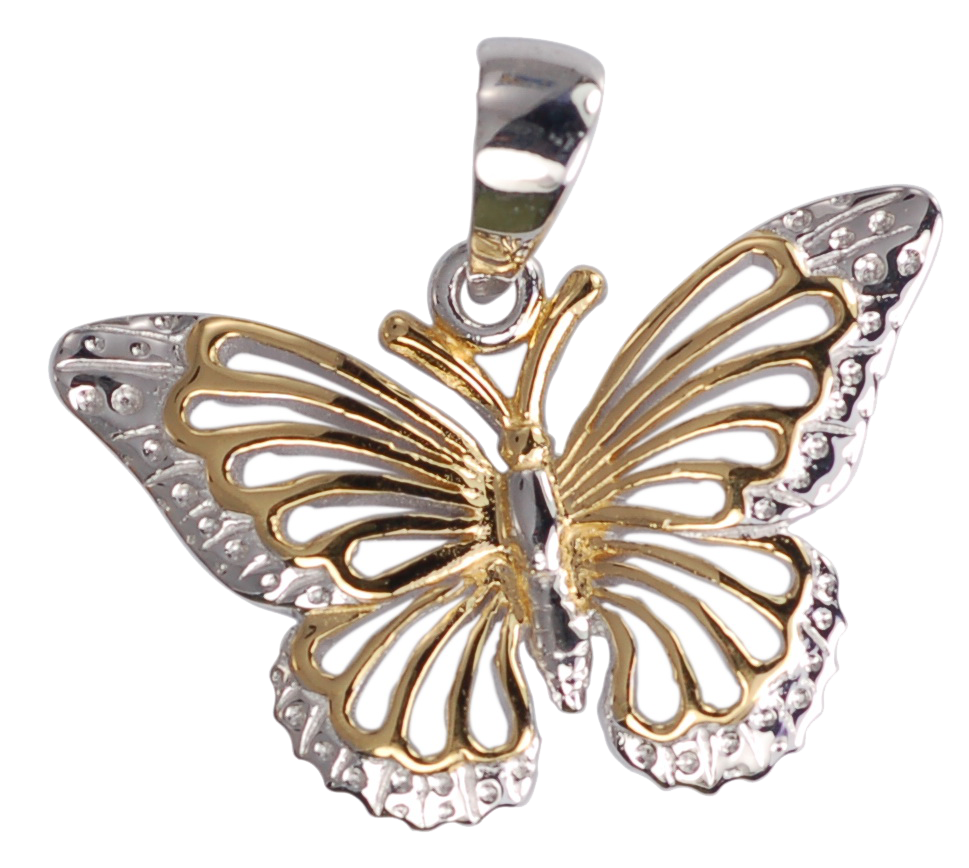Filigree Butterfly Pendant